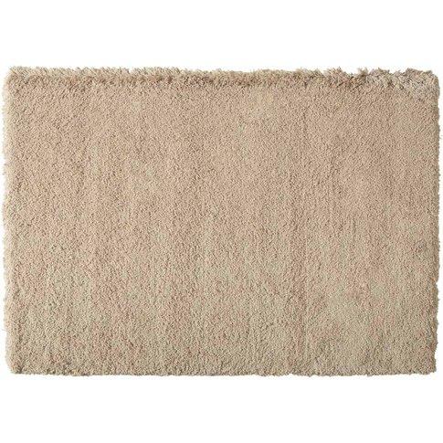 INUIT beige long pile rug 140x200