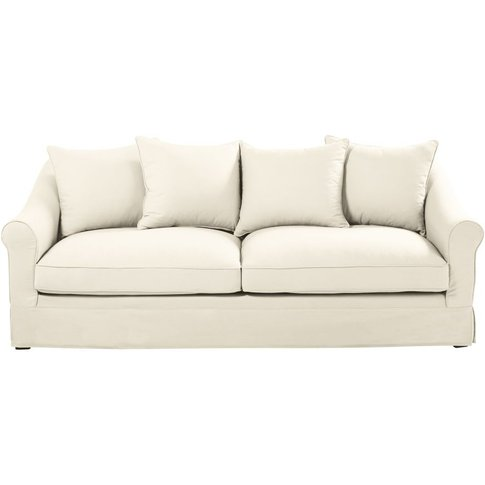 Ivory 4-Seater Cotton Sofa Bed Joanne