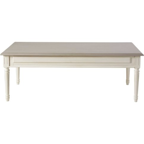 Ivory and Taupe 2-Drawer Coffee Table Camilla