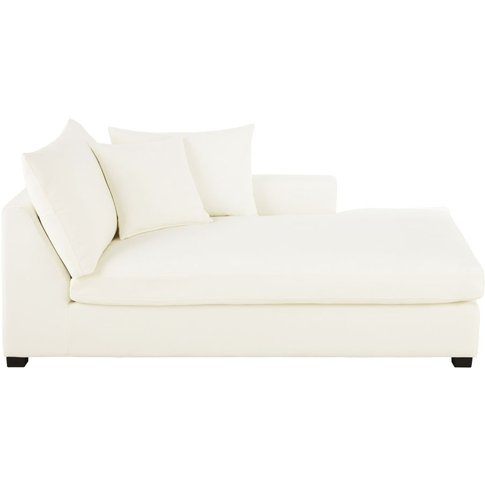 Ivory Cotton Right-Hand Chaise Longue Rhodes