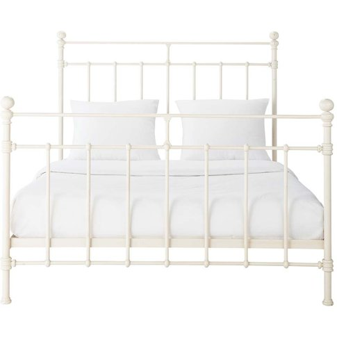 Ivory Metal 160 X 200cm King Size Bed Syracuse