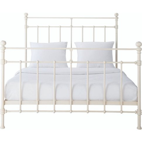 Ivory Metal Bed 140x190 Syracuse
