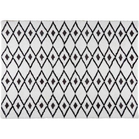 Jyam Black And White Berber Rug 160 X 230 Cm