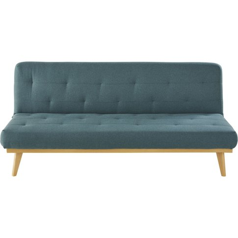 Khaki Green 3-Seater Tufted Sofa Bed Declik
