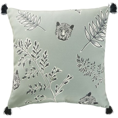 Khaki Outdoor Cushion with Print 45x45