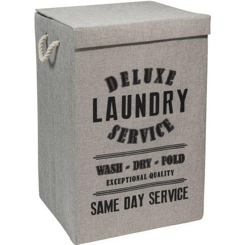 LAUNDRY DELUXE fabric laundry basket