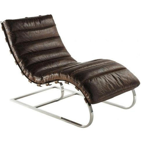 Leather Armchair In Brown Freud