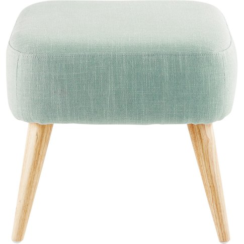 Light Green Stool with Rubber Wood Legs