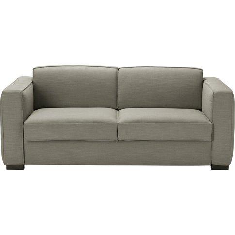Light Grey 3-Seater Sofa Bed Berlin