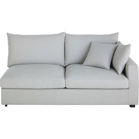 Light Grey Cotton Sofa Bed With Right Armrest Rhodes