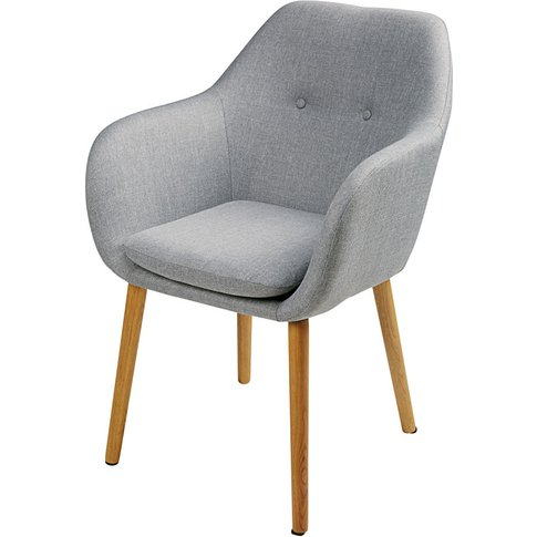 Light Grey Vintage Armchair Arnold