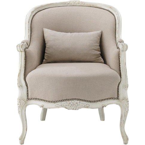 Linen armchair Montpensier