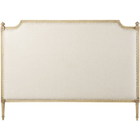 Linen-Coloured Linen Headboard W180 Aline