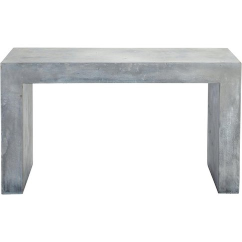 Magnesia Concrete Effect Console Table In Grey W 135...