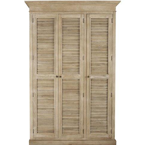 Mango wood 3-door sideboard Persiennes