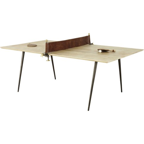 Mango Wood And Metal 8-10 Seater Dining Table W207 Pong