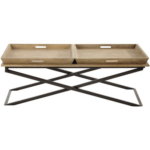 Mango Wood And Metal Coffee Table W 120cm Hippolyte