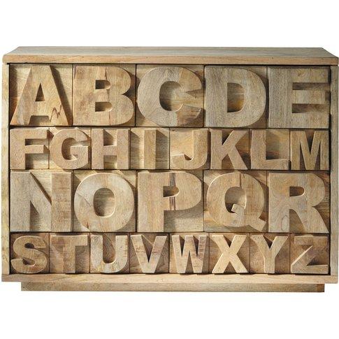 Mango Wood Cabinet Alphabet