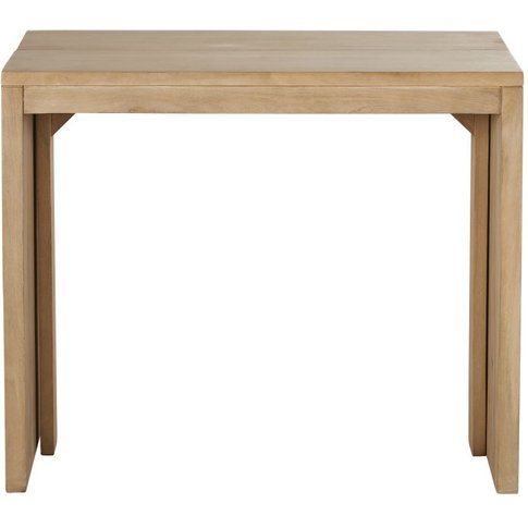Mango Wood Extendable 6-Seater Dining Table W40/160 ...