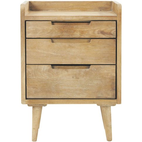 Mango Wood Vintage Bedside Table With Drawers W 45cm...