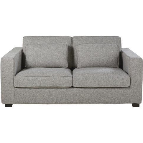 Marled Grey 3-Seater Sofa Bed with 12cm Futon Milano