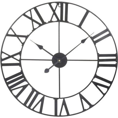Mécano Metal Clock, Black, D60