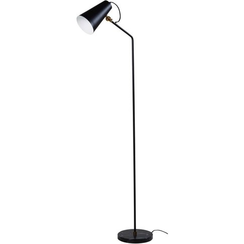 Metal And Black Marble Floor Lamp H152