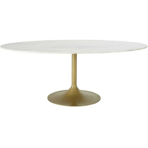 Metal And Marble 4-6 Seater Dining Table W200 Manisa