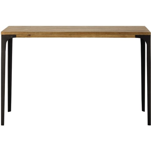 Metal and solid mango wood console table W 120cm Met...