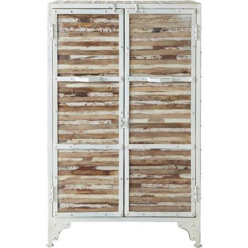 Metal cabinet in white W 75cm Mistral