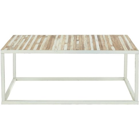 Metal Coffee Table In White Mistral