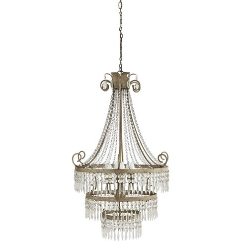 Metal Droplet Chandelier In Grey