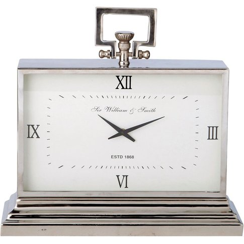 Metal Freestanding Clock In Chrome