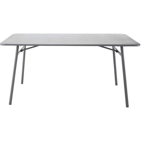 Metal garden table W 160cm Harry's