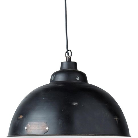 Metal Industrial Ceiling Light In Black