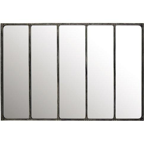Metal Industrial Mirror 180x124