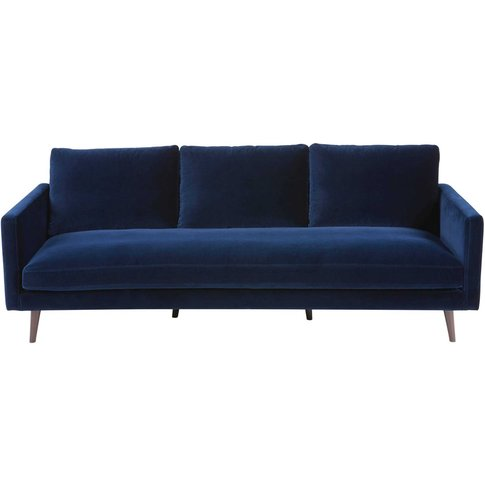 Midnight blue 4-seater velvet sofa Kant
