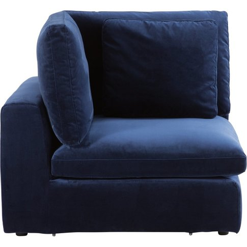 Midnight Blue Velvet Modular Corner Sofa Midnight
