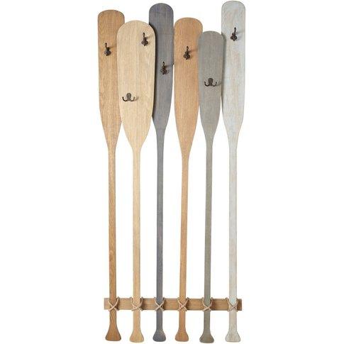 Multicoloured Metal 7-Hook Paddles Coat Rack