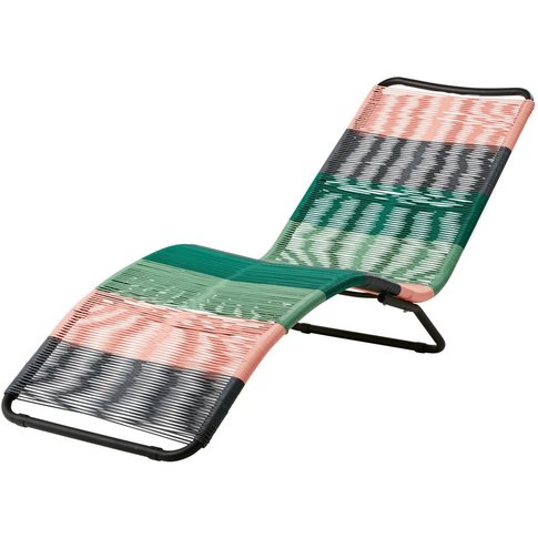 Multicoloured Resin Wicker Sun Lounger Copacabana