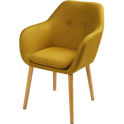 Mustard Yellow Vintage Armchair Arnold