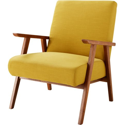 Mustard Yellow Vintage Armchair Hermann