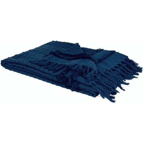 Navy Blue Cotton Blanket 160x210