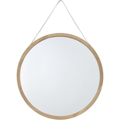 Oak Mirror D80