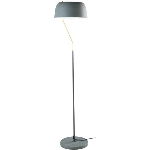 Olive Green And Gold Metal Floor Lamp H 157 Cm