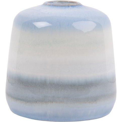 Ombre Blue Ceramic Vase H15