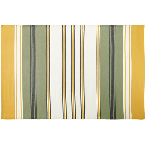 Outdoor Rug With Multicoloured Stripe Print 180x270