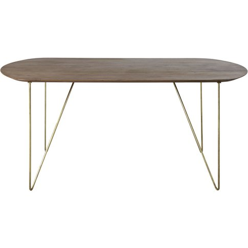 Oval Acacia 6-Seater Dining Table W175 Mayfair