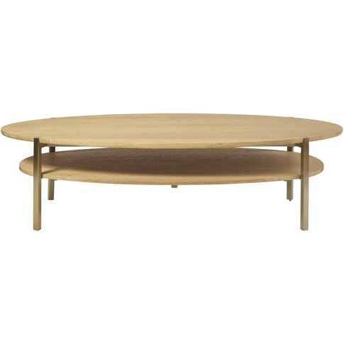 Oval Coffee Table With Two Surfaces Karla