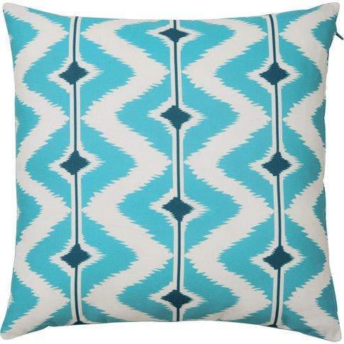 Papaya Outdoor Cushion In Blue /White 40x40